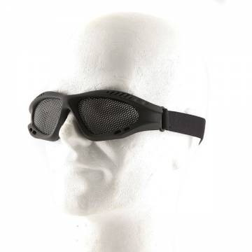 Metal Mesh Goggle Glasses - Black