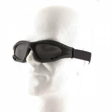 Metal Mesh Goggle Glasses - Black