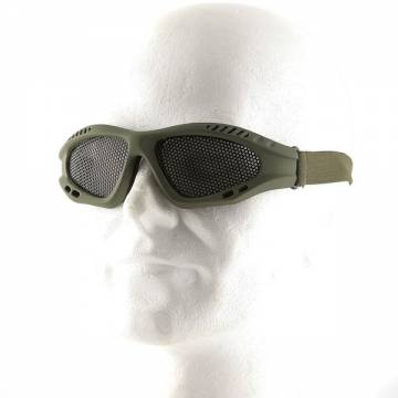 Metal Mesh Goggle Glasses - Olive Drab