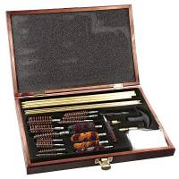 Universal Gun Cleaning Kit - Wooden Case