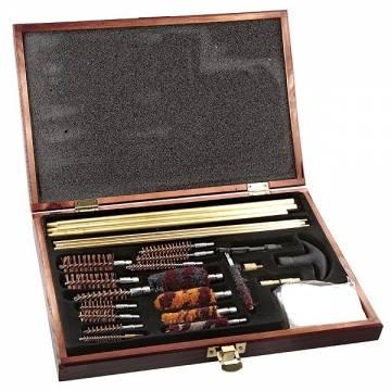 Universal Gun Cleaning Kit - Wooden Case