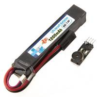 Intellect Lipo Battery 1200mAh - 7,4V 20C + Alarm