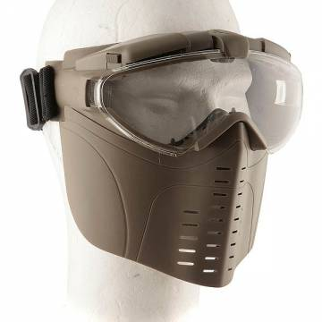 EA Full Face Goggle Mask with Fan (TAN)