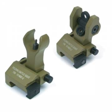 King Arms Folding Battle Sight Set - Dark Earth