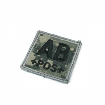 King Arms Cube Blood Type Patch - ACU - AB