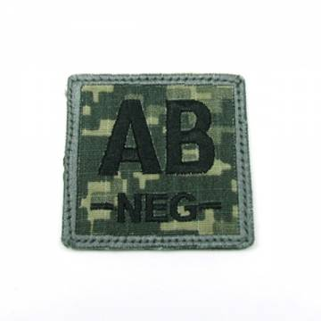 King Arms Cube Blood Type Patch - ACU - AB-