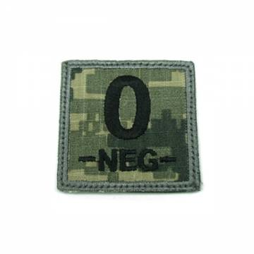 King Arms Cube Blood Type Patch - ACU - O-