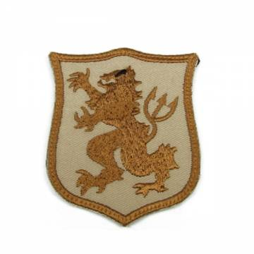 King Arms Seal Gold Team Lion-S Embroidery Patch - TAN