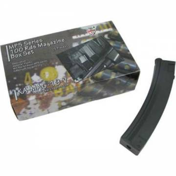 King Arms MP5 100 Rounds Magazines Box Set (5pcs)