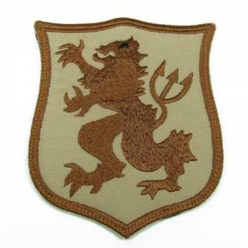 King Arms Seal Gold Team Lion-L Shoulder Patch - TAN