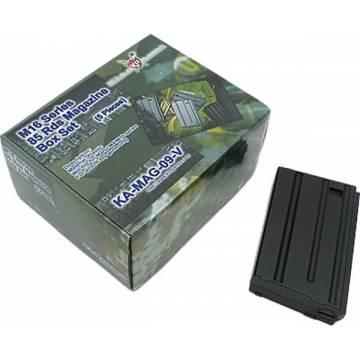 King Arms M4/M16 VN 85 Rds Mag Box Set (5pcs)