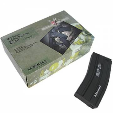 King Arms M16 120 Rds Mag. H&K Marking Box Set (10pcs) - BK