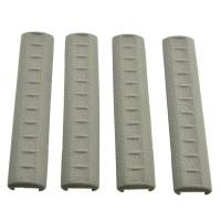 A.P.S KAC Rubber Rail Covers 4pcs - Foliage Green