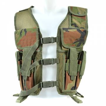 King Arms Tactical Vest (Woodland Camo)