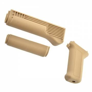 King Arms AK74M Handguard & Grip - TAN