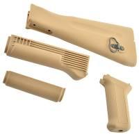 King Arms AK74M Handguard / Grip / Stock - TAN
