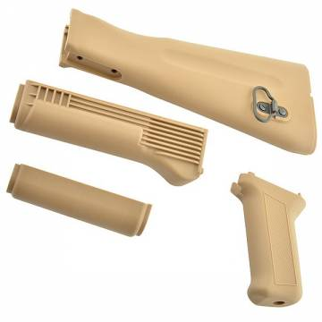 King Arms AK74M Handguard / Grip / Stock - TAN