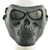 Skull Skeleton Full Face Protector Mask - Black