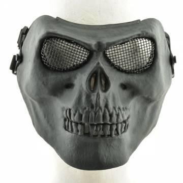 Skull Skeleton Full Face Protector Mask - Black