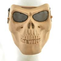 Skull Skeleton Full Face Protector Mask - TAN