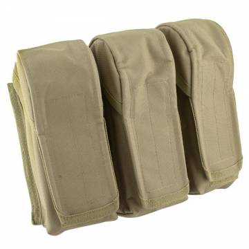 King Arms MPS DA Triple AK Ammo Pouch - TAN