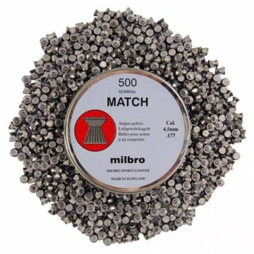 Milbro Pellets .177 (4,5mm) Match 500 pcs