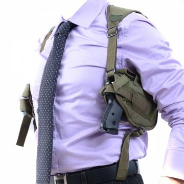 Horizontal Shoulder Holster - Olive Drab