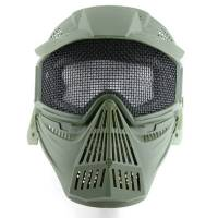 Tactical Mask with Net - Olive Drab