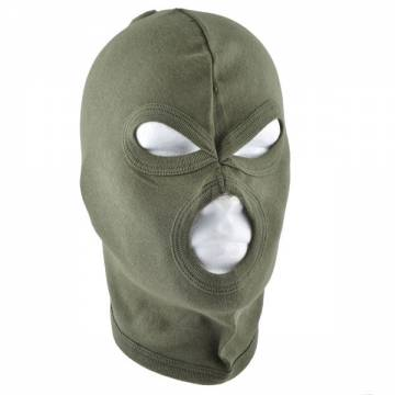 Balaclava Cotton Three Hole - Olive Drab