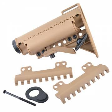 King Arms Carbine MOD Stock with Pipe - TAN