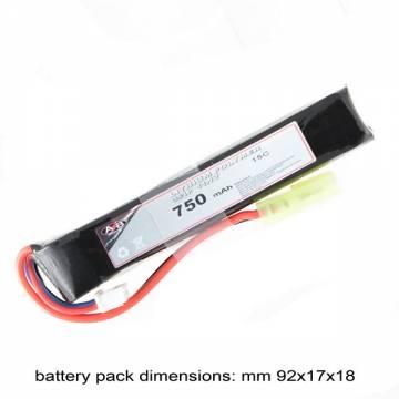 AB Battery Li-Po - 11,1V 750mAh - 15C