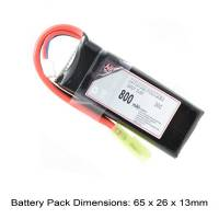 AB Battery Li-Po - 7,4V 800mAh - 20C