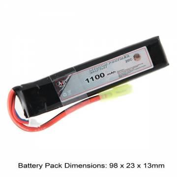 AB Battery Li-Po - 7,4V 1100mAh - 20C