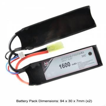 AB Battery Li-Po - 7,4V 1600mAh - 30C