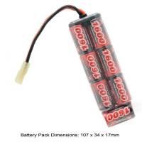 AB Battery 8,4V Ni-MH 1600mAh (Mini Type)