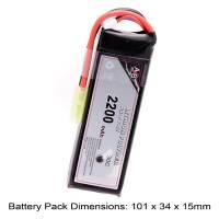 AB Battery Li-Po - 7,4V 2200mAh - 30C