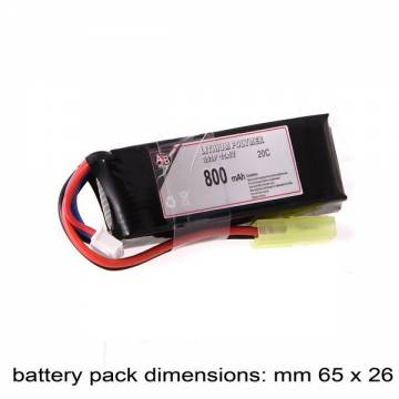 AB Battery Li-Po - 11,1V 800mAh - 20C