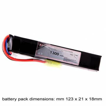 AB Battery Li-Po - 11,1V 1300mAh - 15C