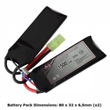 AB Battery Li-Po - 7,4V 1500mAh - 20C - Double Element