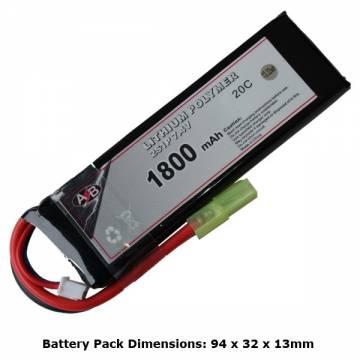 AB Battery Li-Po - 7,4V 1800mAh - 20C