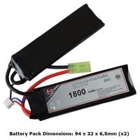 AB Battery Li-Po - 7,4V 1800mAh - 20C - Double Element