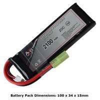 AB Battery Li-Po - 7,4V 2100mAh - 20C