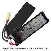 AB Battery Li-Po - 7,4V 2100mAh - 20C - Double Element