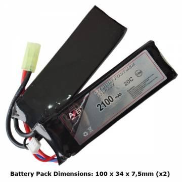 AB Battery Li-Po - 7,4V 2100mAh - 20C - Double Element