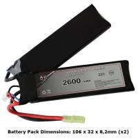 AB Battery Li-Po - 7,4V 2600mAh - 20C - Double Element
