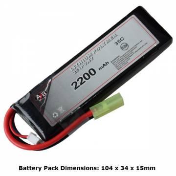 AB Battery Li-Po - 7,4V 2200mAh - 35C