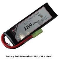 AB Battery Li-Po - 7,4V 2200mAh - 40C