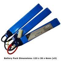 AB Battery Li-Fe - 9,9V 1000mAh - 20C - 3 Element