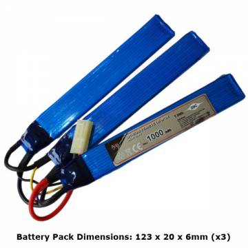 AB Battery Li-Fe - 9,9V 1000mAh - 20C - 3 Element