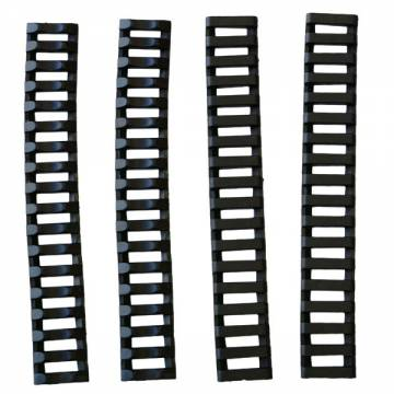 D-Boys Rubber Rail Cover 4pcs - Black